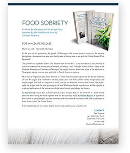 Click to download a Food Sobriety press release in PDF format